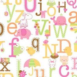 Tela baby abecedario
