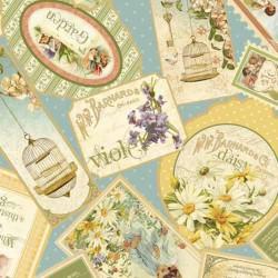 Tela sellos vintage