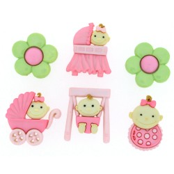 Botones BABY FUN-GIRL