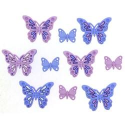 Botones Sweet butterflies