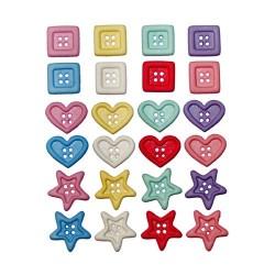 Botones Chunky shapes