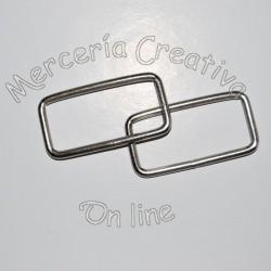 Hebilla rectangular metal x2