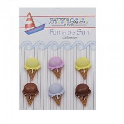 Botones conos de helado Fun...