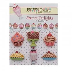 Botones tartas Sweet Delights