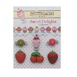 Botones caramelos y frutas...