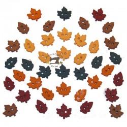 Botones Mini hojas de otoño