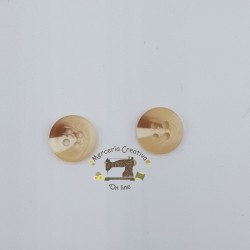 Botón beige y marrón 11mm...