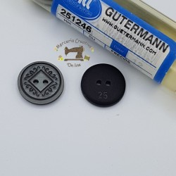 Botón gris 18mm Gutermann
