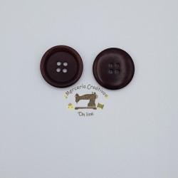 Botón clásico marrón 23mm