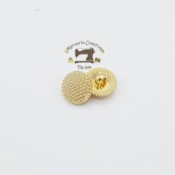 Botón relieve color oro 11,5mm