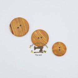 Botón madera de olivo