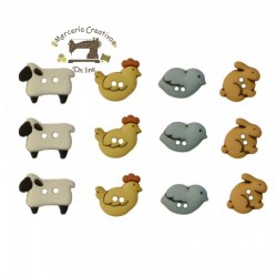 Botones Country Critters