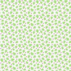 Tela Ranas verdes fondo blanco