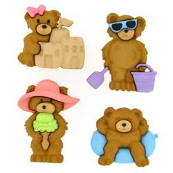 Botones Summer Bears