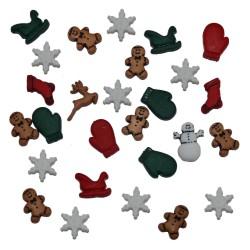 Botones Christmas Miniatures