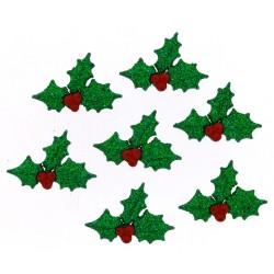 Botones Glitter Holly