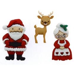 Botones Mr. & Mrs. Claus